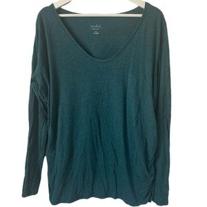 3/$15 Isabel Maternity Ruched Long Sleeve T-Shirt